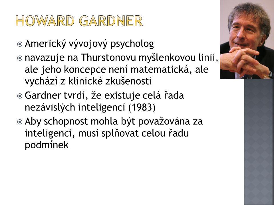 Howard Gardner Americký vývojový psycholog