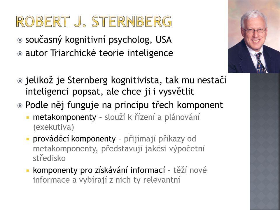 Robert J. Sternberg současný kognitivní psycholog, USA
