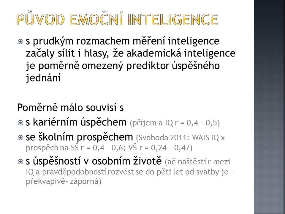 původ emoční inteligence