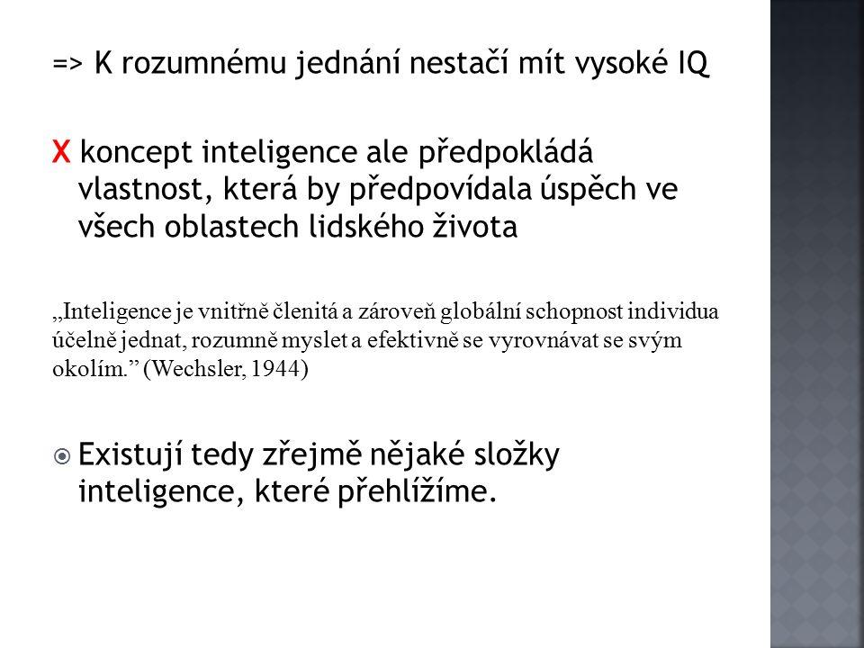 => K rozumnému jednání nestačí mít vysoké IQ
