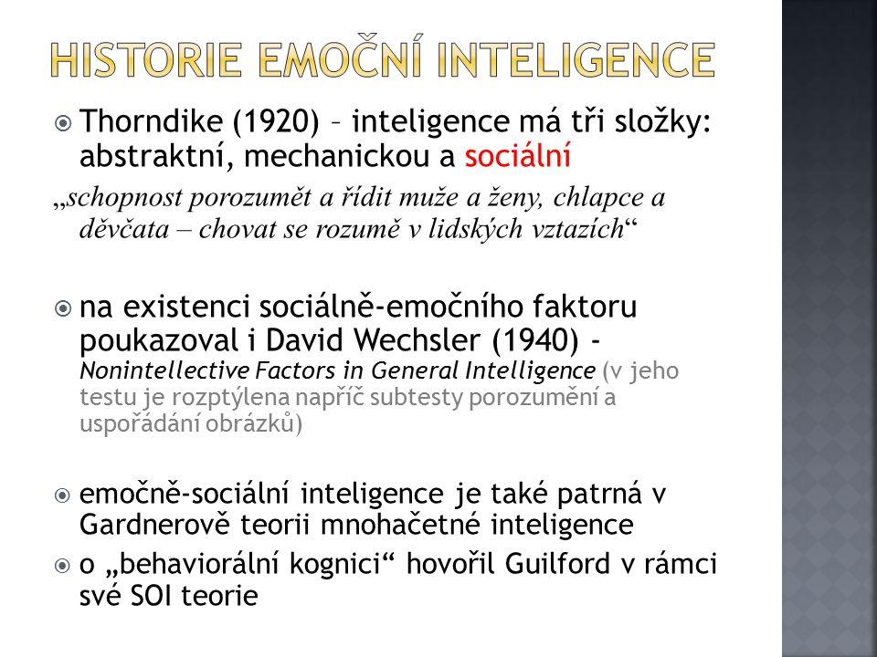 Historie Emoční inteligence