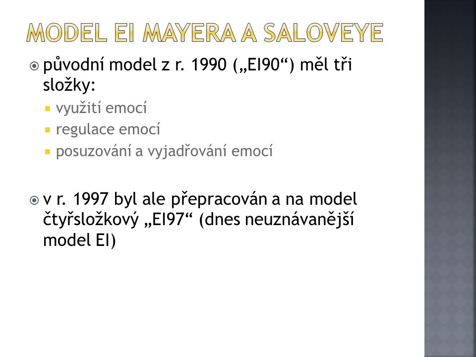 Model EI Mayera a Saloveye