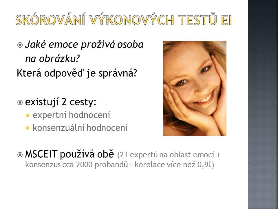 Skórování výkonových Testů EI