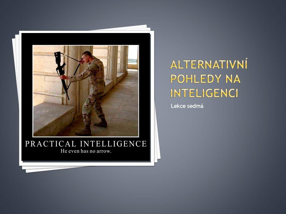 Alternativní pohledy na inteligenci