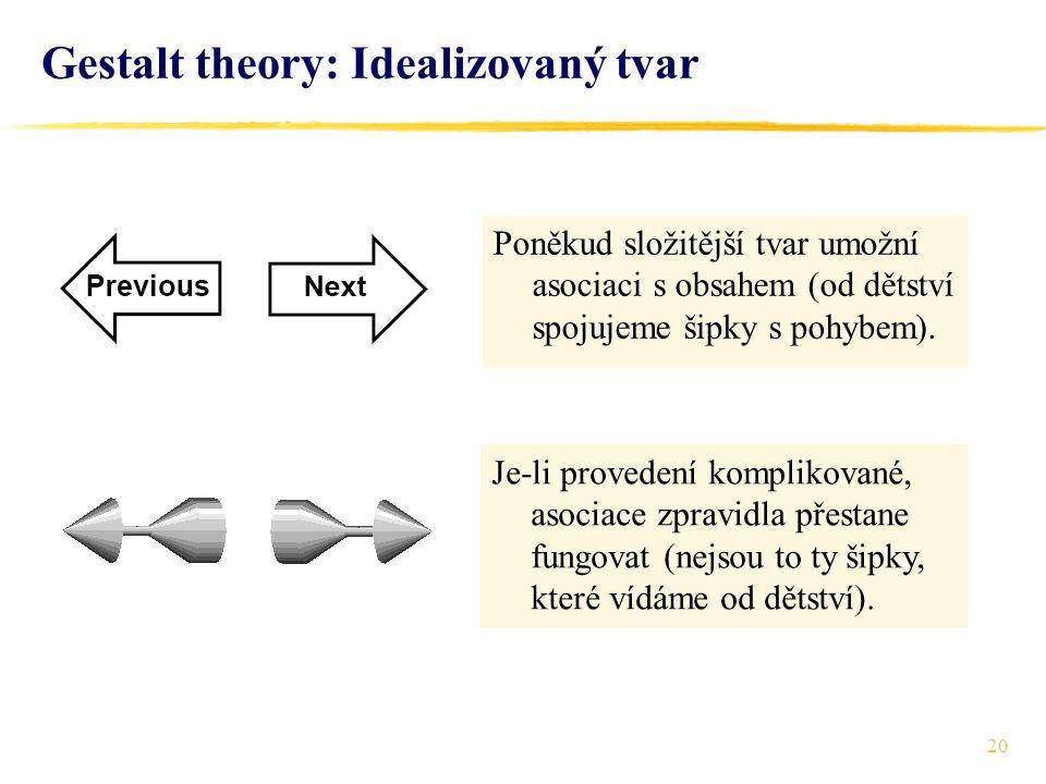 Gestalt theory: Idealizovaný tvar