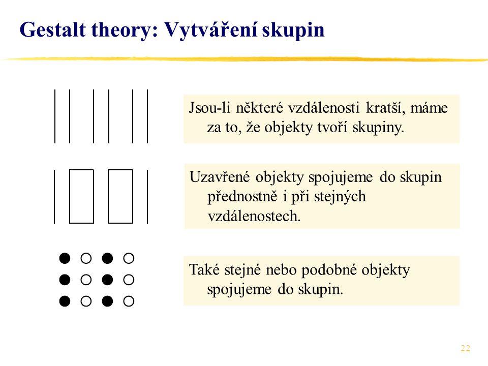 Gestalt theory: Vytváření skupin