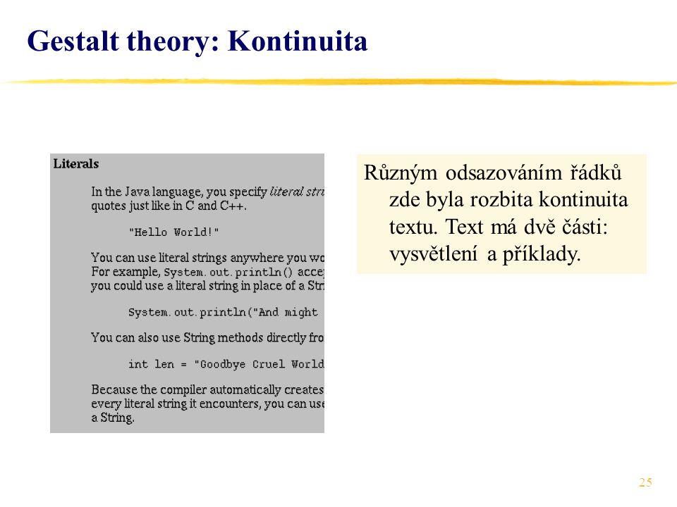 Gestalt theory: Kontinuita