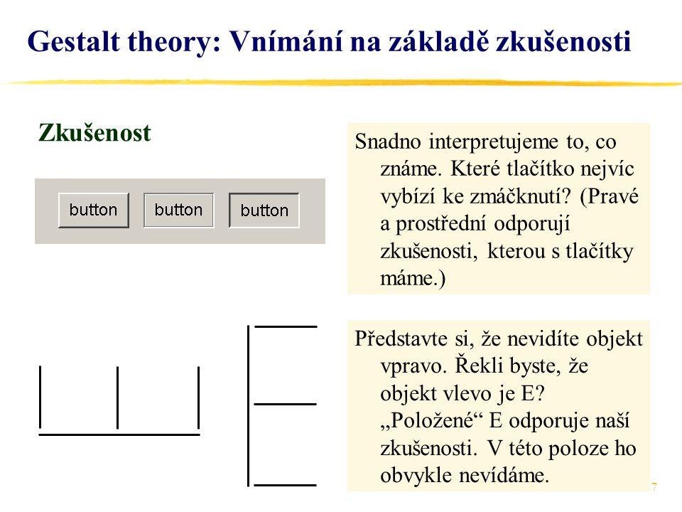 Gestalt theory: Vnímání na základě zkušenosti