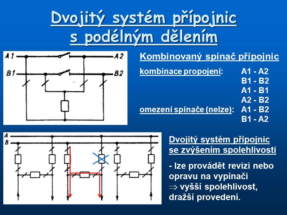 Dvojitý systém přípojnic s podélným dělením