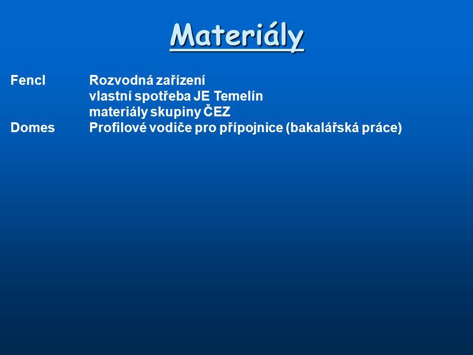 Materiály Fencl Rozvodná zařízení vlastní spotřeba JE Temelín