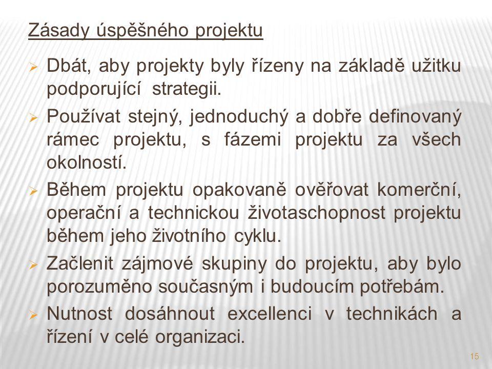 Zásady úspěšného projektu