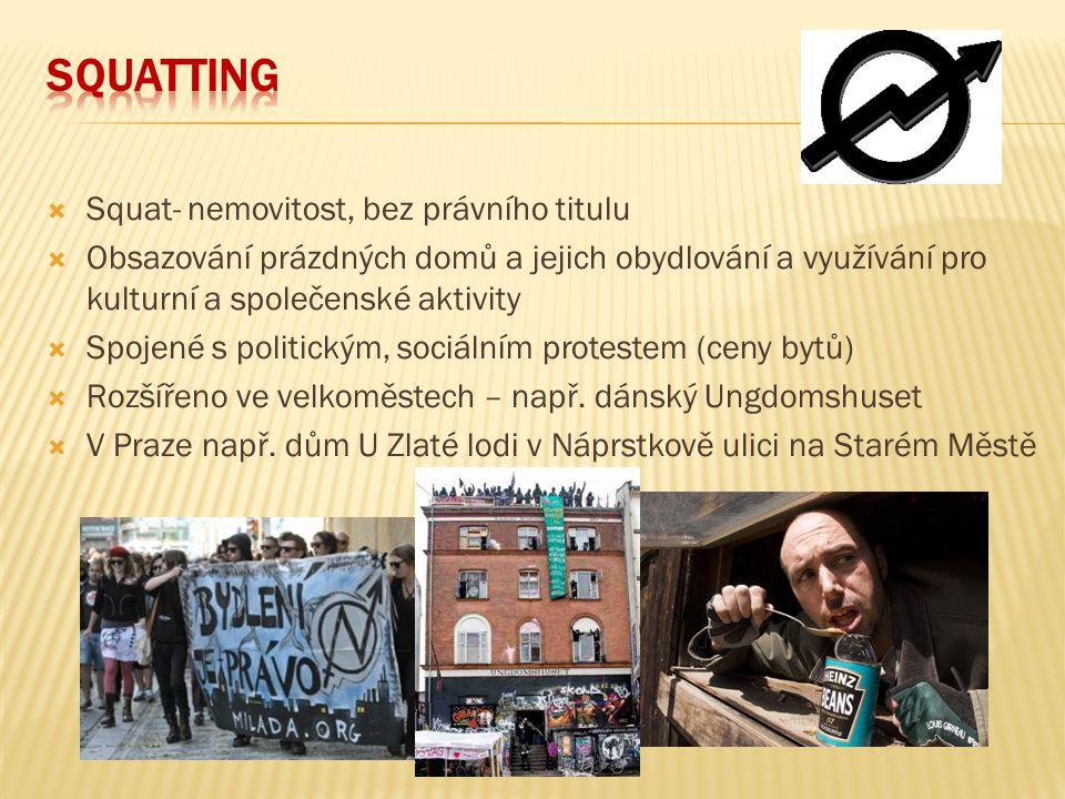Squatting Squat- nemovitost, bez právního titulu