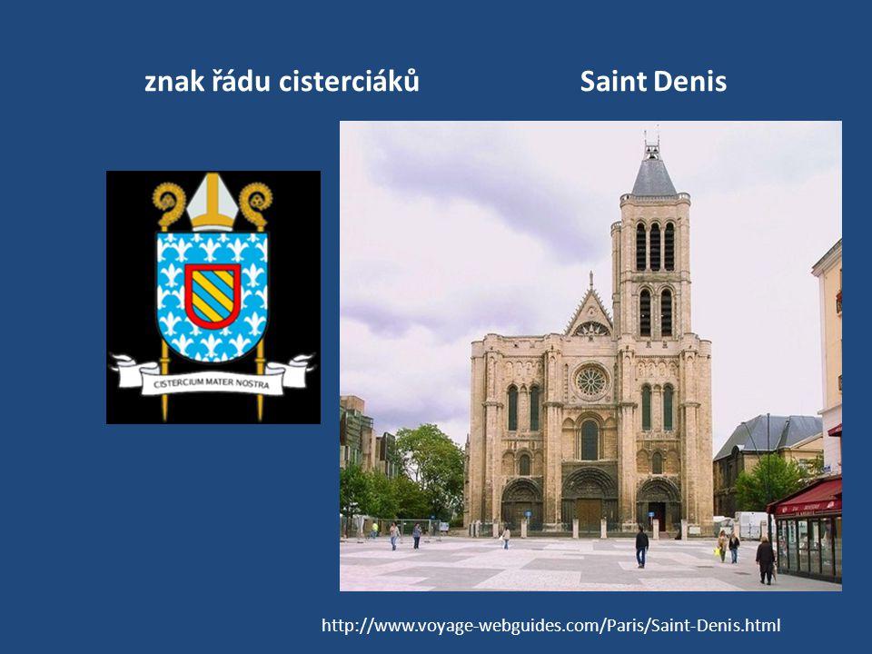 znak řádu cisterciáků Saint Denis
