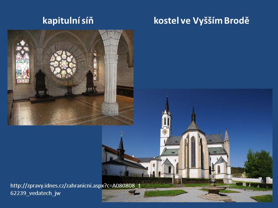 kapitulní síň kostel ve Vyšším Brodě