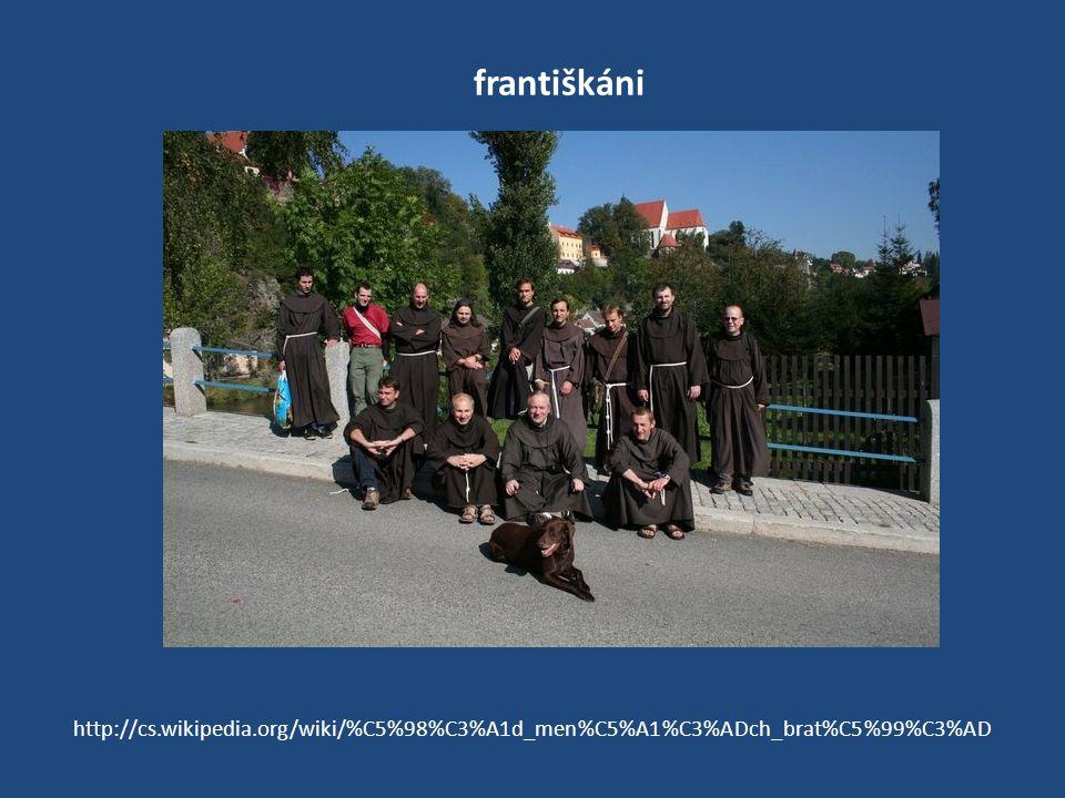františkáni http://cs.wikipedia.org/wiki/%C5%98%C3%A1d_men%C5%A1%C3%ADch_brat%C5%99%C3%AD