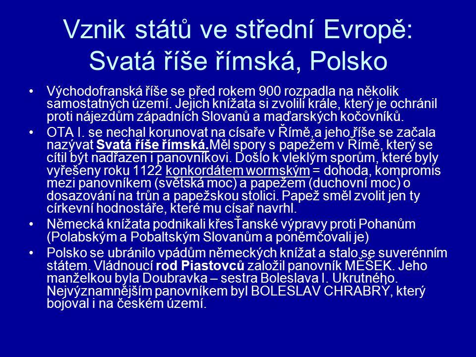 Vznik států ve střední Evropě: Svatá říše římská, Polsko