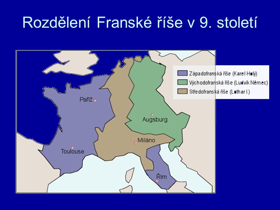 Rozdělení Franské říše v 9. století