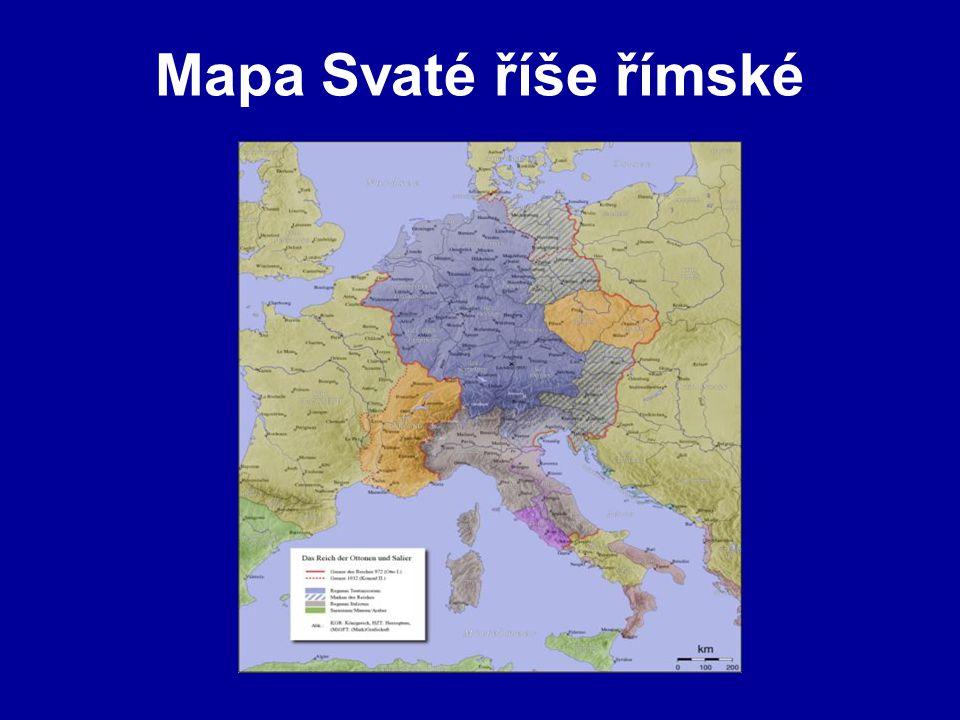 Mapa Svaté říše římské