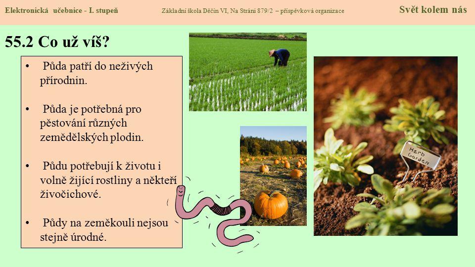 55.2 Co už víš Půda patří do neživých přírodnin.