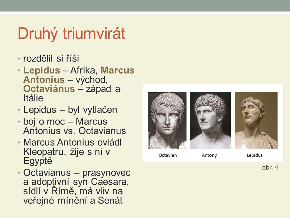 Druhý triumvirát rozdělil si říši