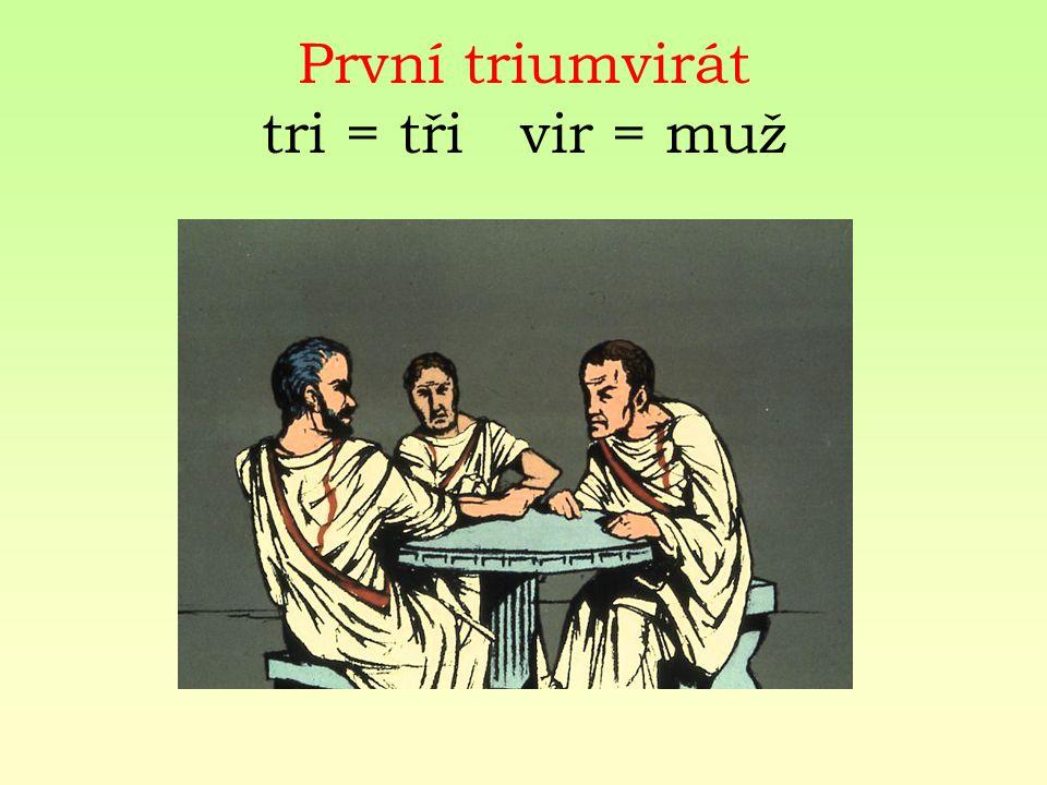 První triumvirát tri = tři vir = muž