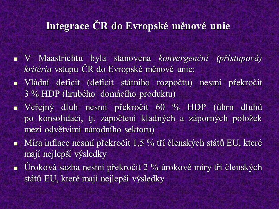 Integrace ČR do Evropské měnové unie