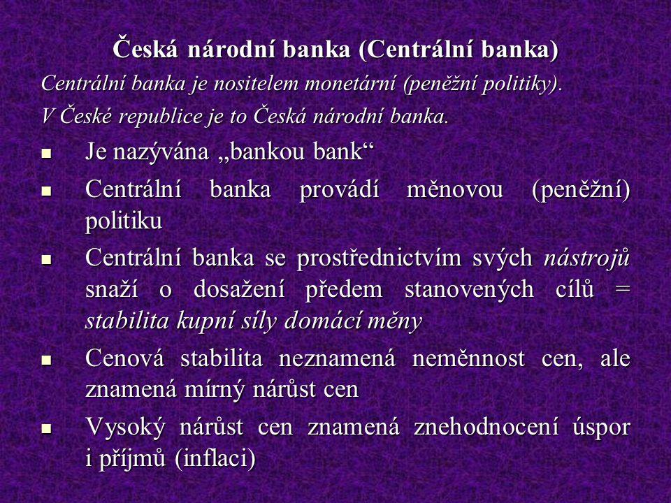 Česká národní banka (Centrální banka)