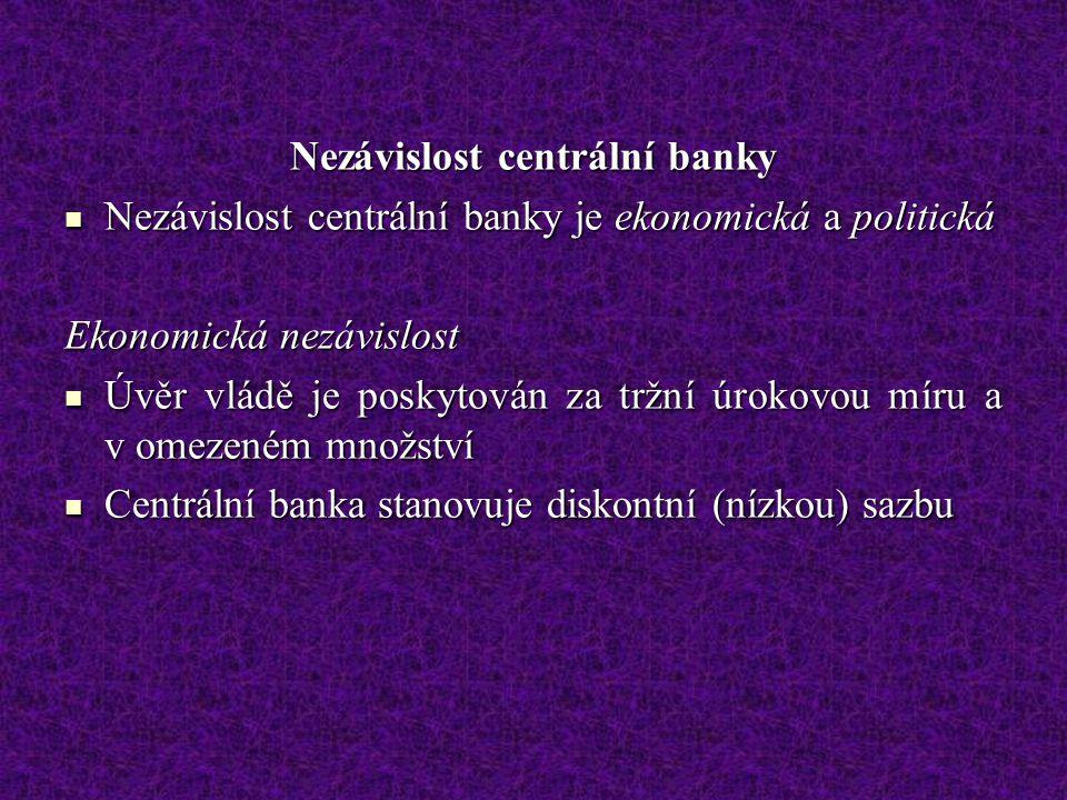 Nezávislost centrální banky