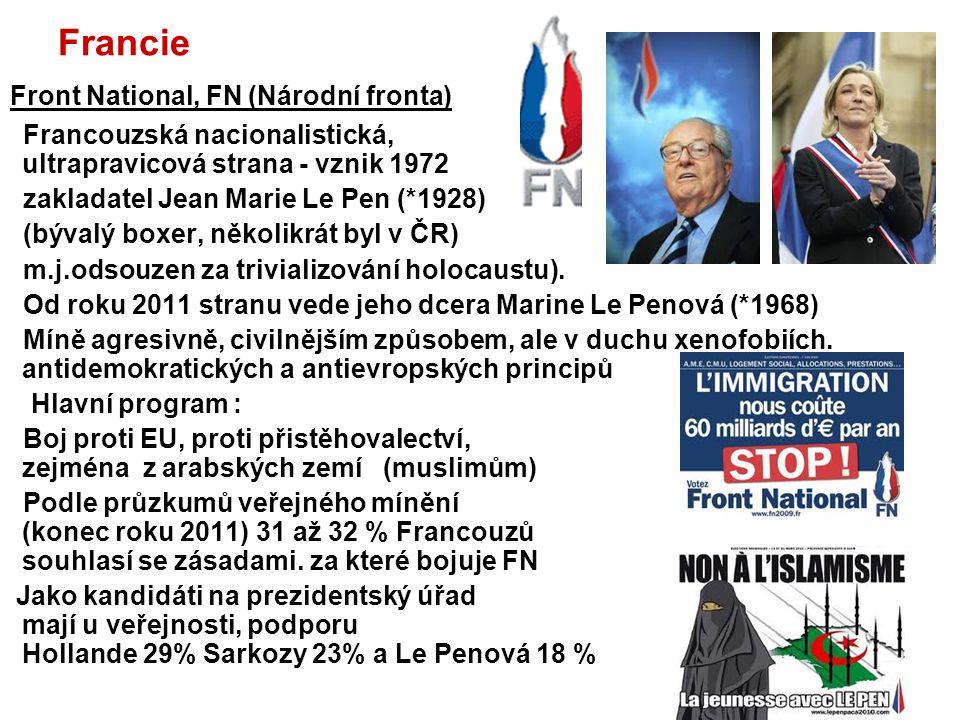 Front National, FN (Národní fronta)