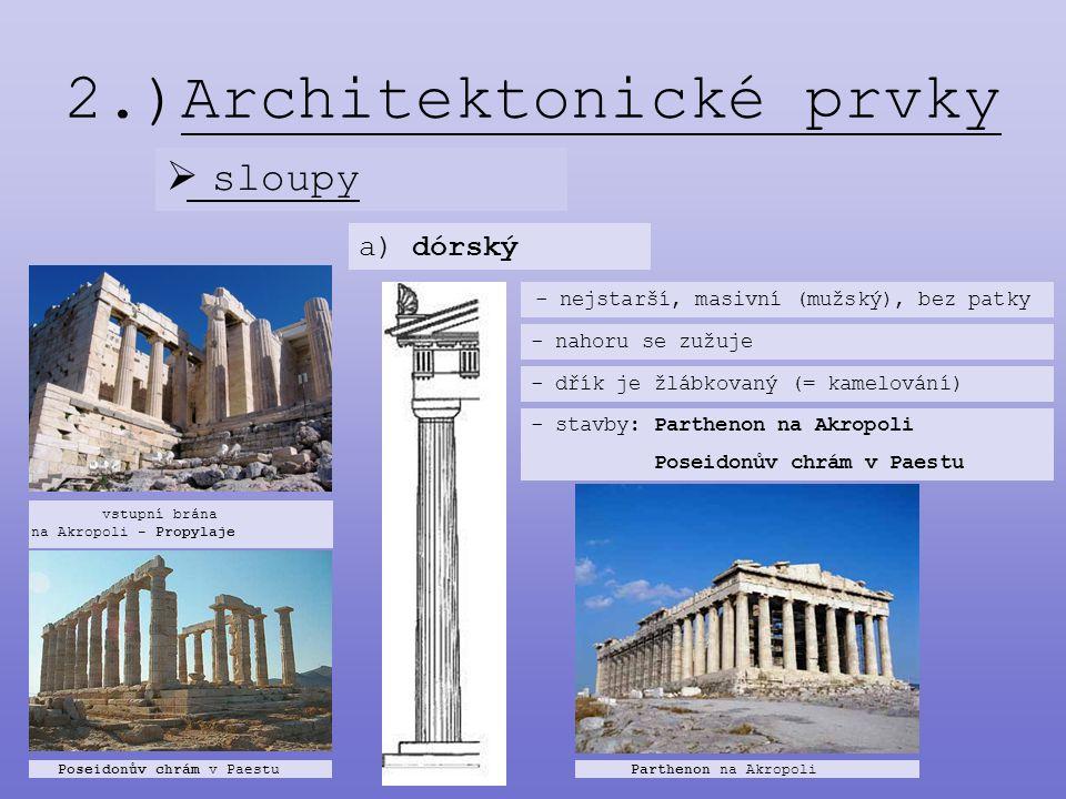2.)Architektonické prvky