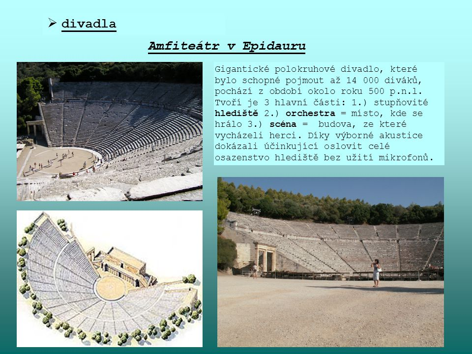 divadla Amfiteátr v Epidauru