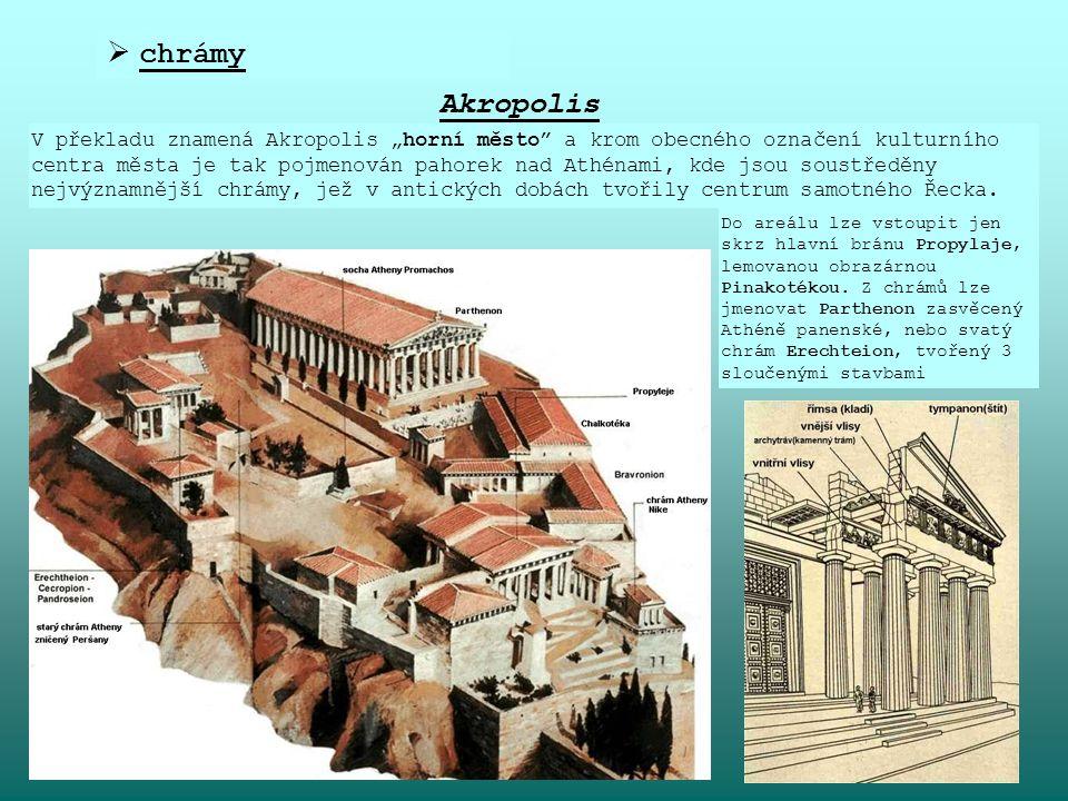 chrámy Akropolis.