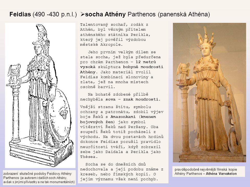 socha Athény Parthenos (panenská Athéna)
