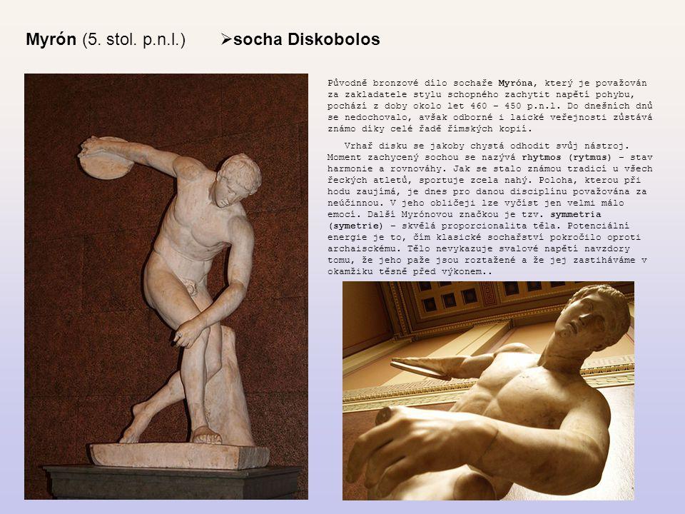Myrón (5. stol. p.n.l.) socha Diskobolos