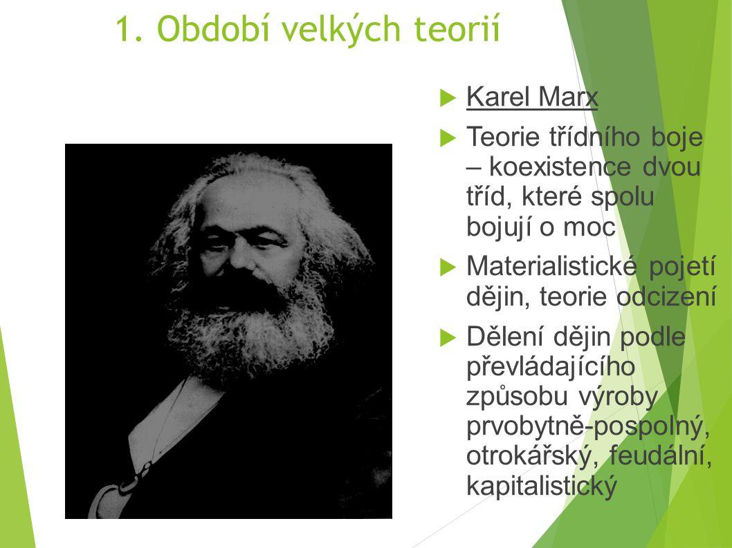 1. Období velkých teorií Karel Marx