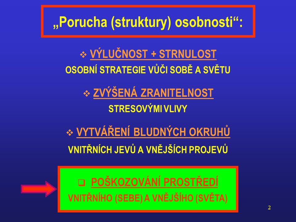 """""""Porucha (struktury) osobnosti :"""