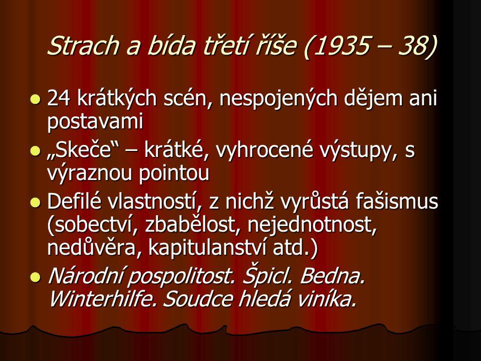 Strach a bída třetí říše (1935 – 38)