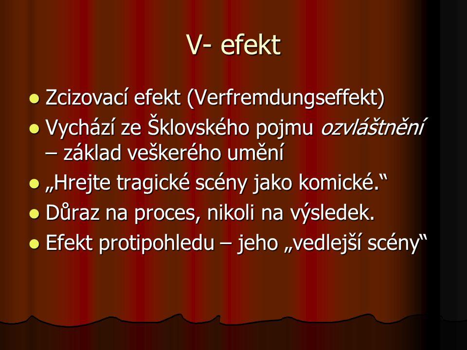 V- efekt Zcizovací efekt (Verfremdungseffekt)