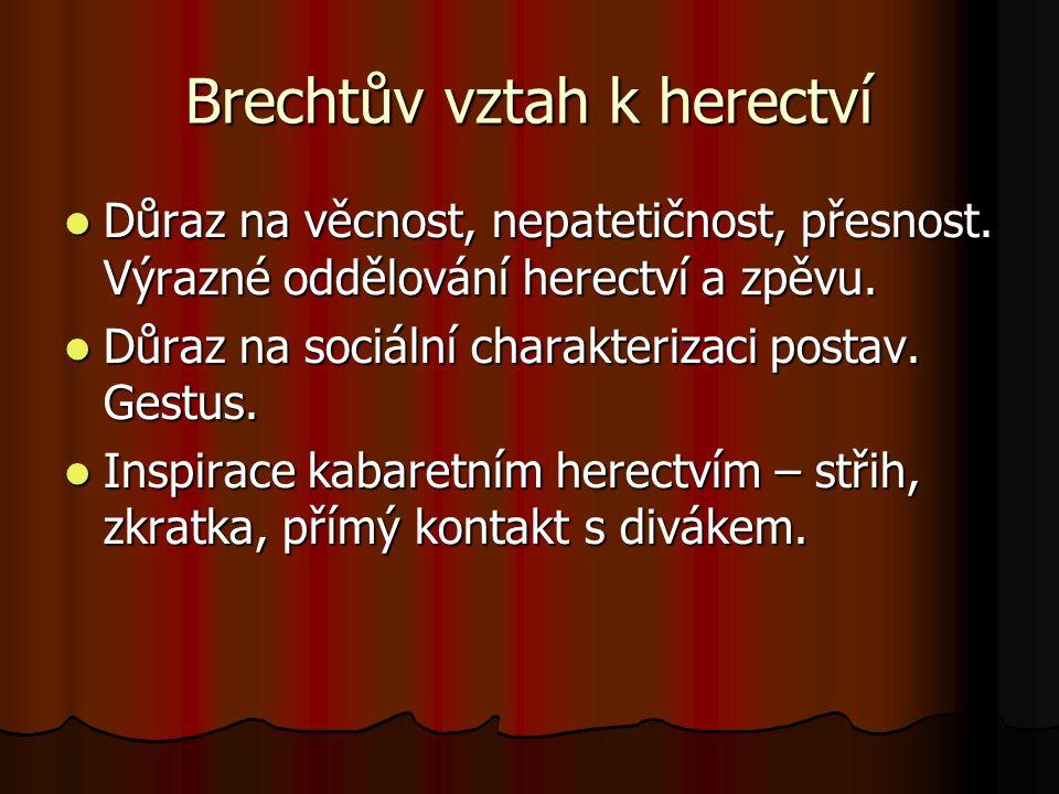 Brechtův vztah k herectví