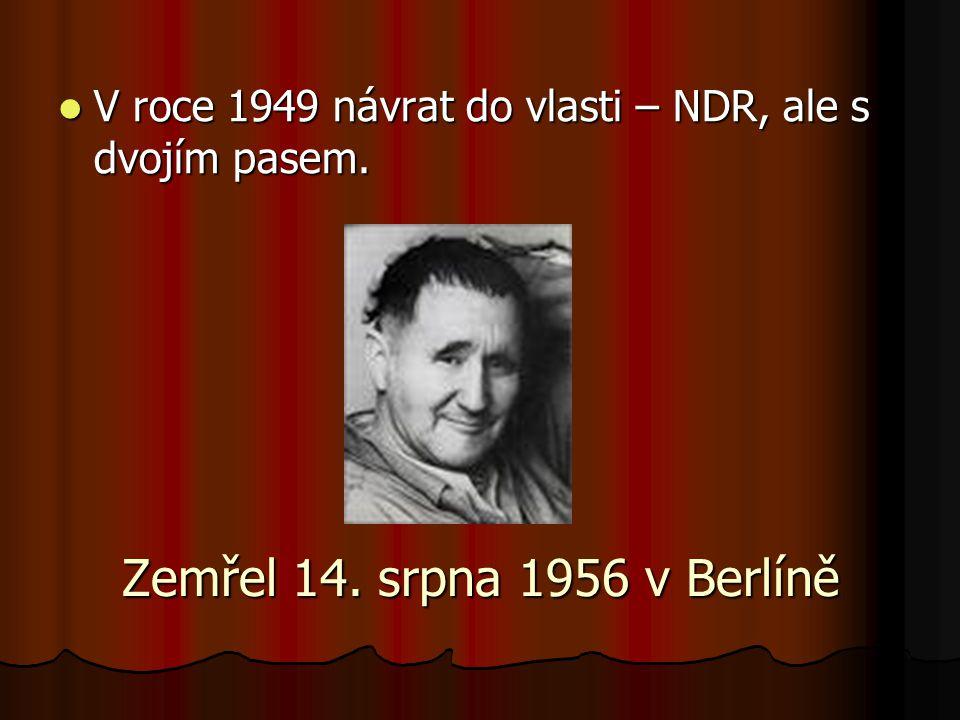 V roce 1949 návrat do vlasti – NDR, ale s dvojím pasem.