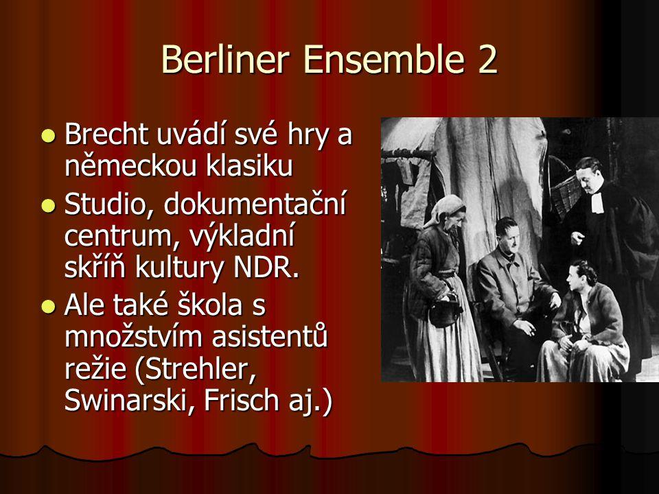 Berliner Ensemble 2 Brecht uvádí své hry a německou klasiku