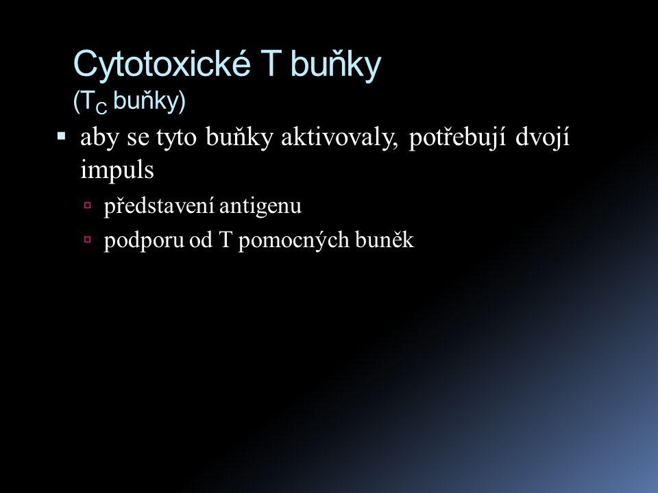 Cytotoxické T buňky (TC buňky)