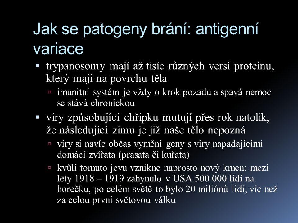 Jak se patogeny brání: antigenní variace