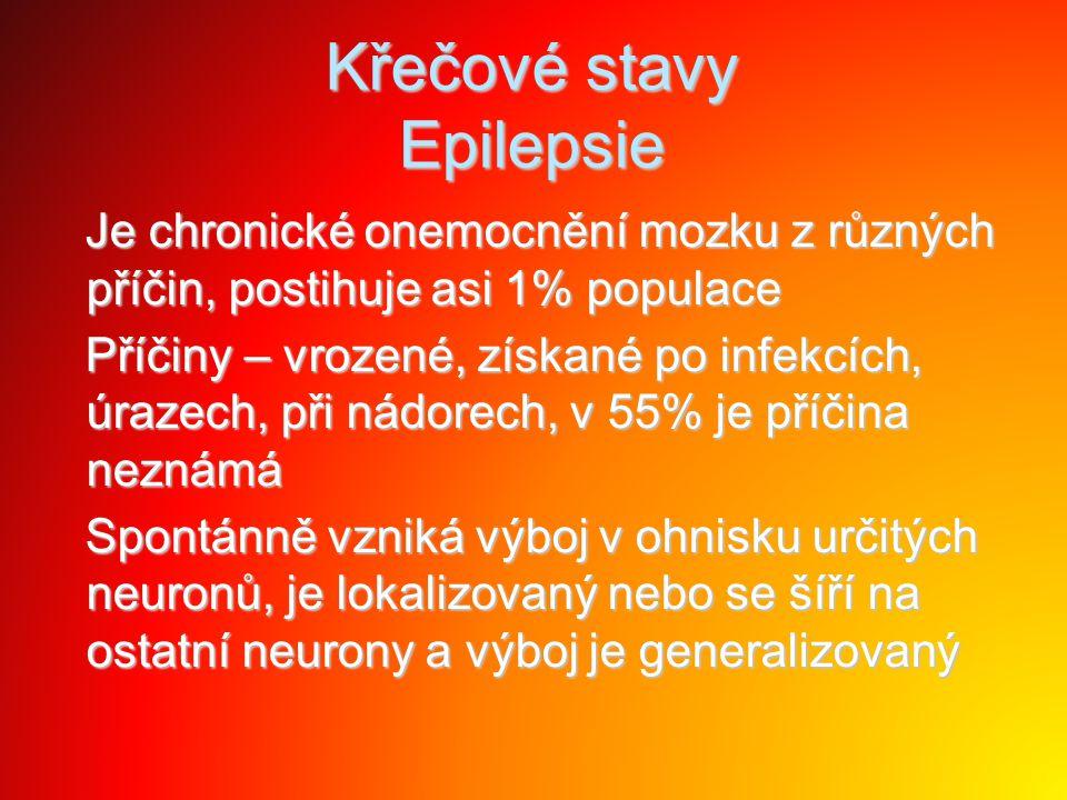 Křečové stavy Epilepsie