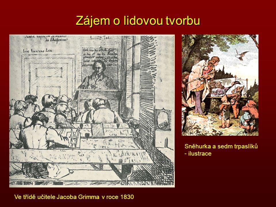 Zájem o lidovou tvorbu Sněhurka a sedm trpaslíků - ilustrace