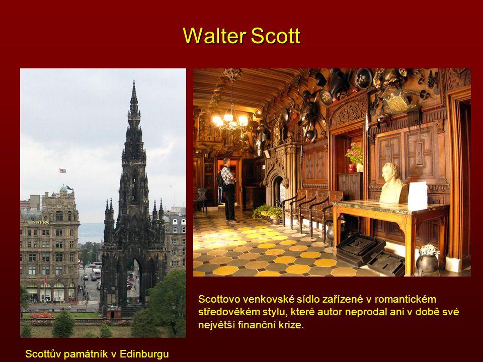 Walter Scott Scottovo venkovské sídlo zařízené v romantickém