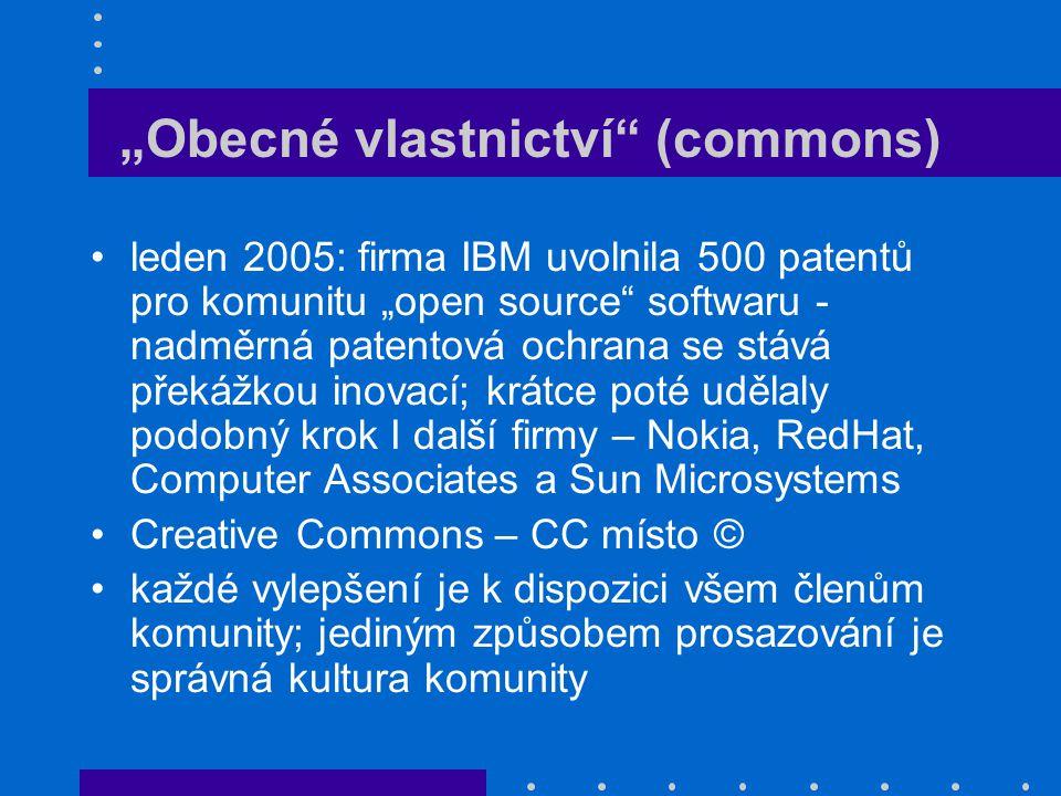 """""""Obecné vlastnictví (commons)"""