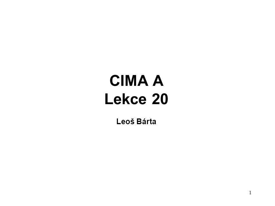 CIMA A Lekce 20 Leoš Bárta