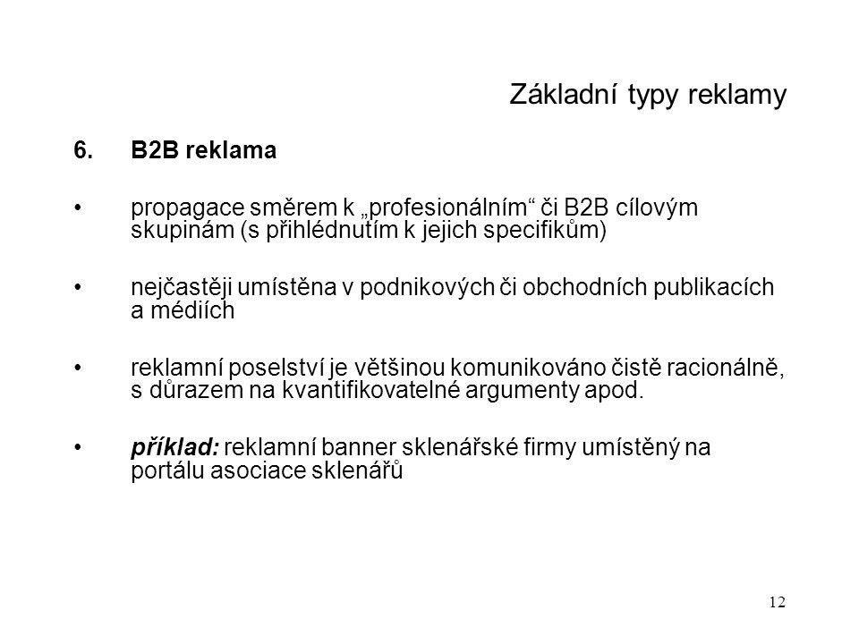 Základní typy reklamy B2B reklama