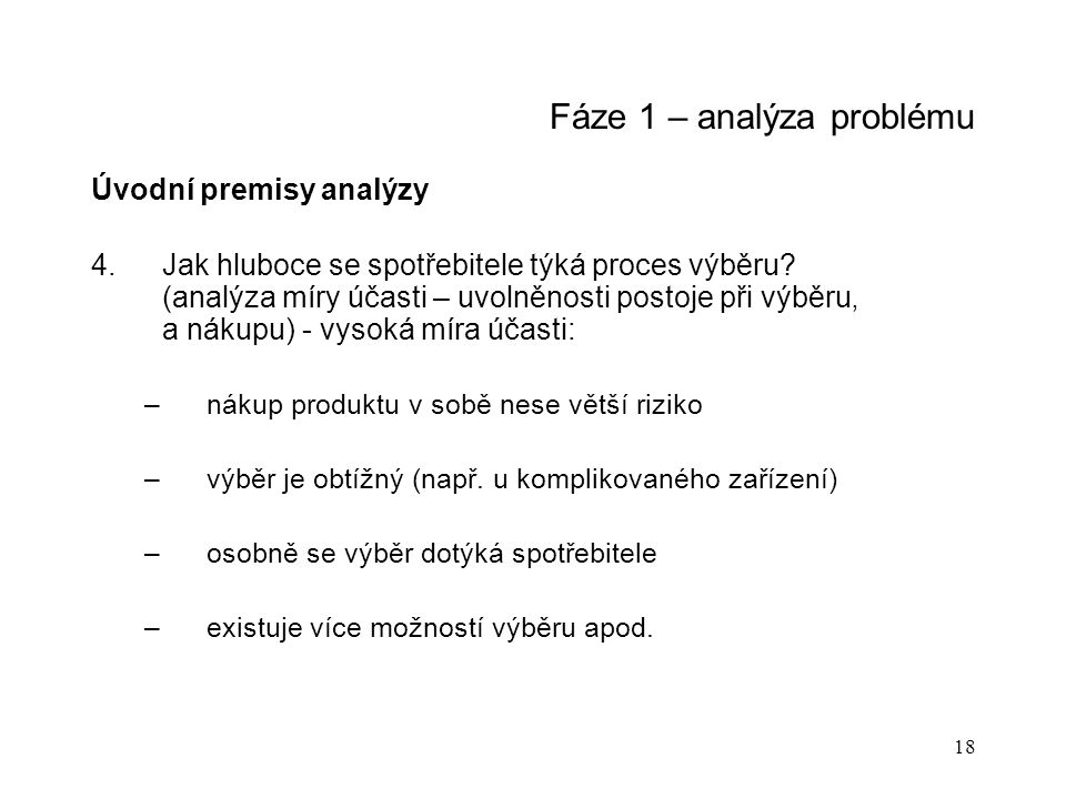 Fáze 1 – analýza problému